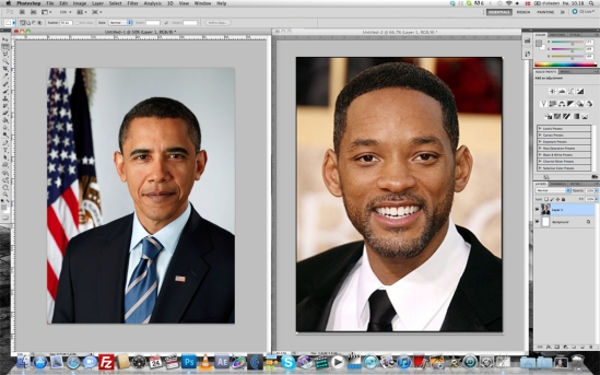 Merging Barack Obama and Will Smith in Photoshop